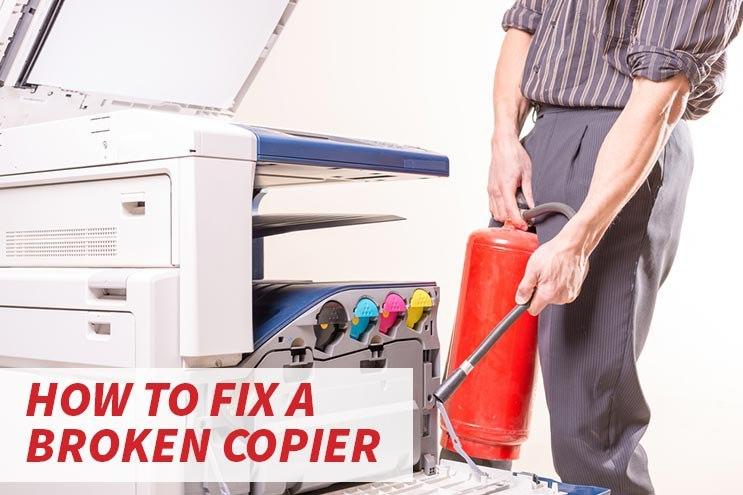 How to fix a broken copier image