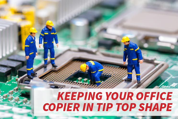 Tips to keep your office copy machine in tip top shape image.