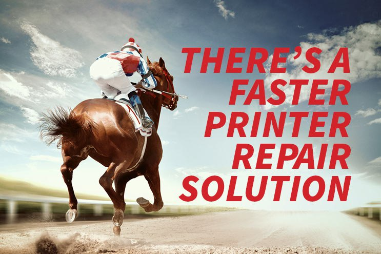 Faster Printer Repair in Corona CA and Orange County CA Racehorse Image