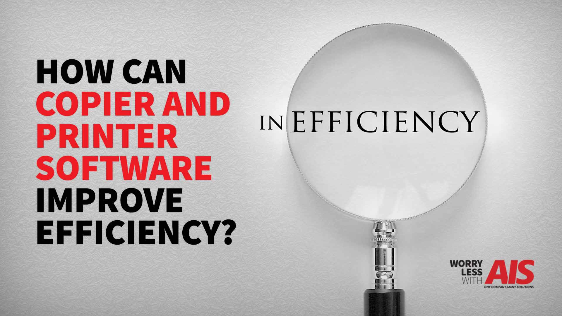 How Can Copier and Printer Software Improve Efficiency?