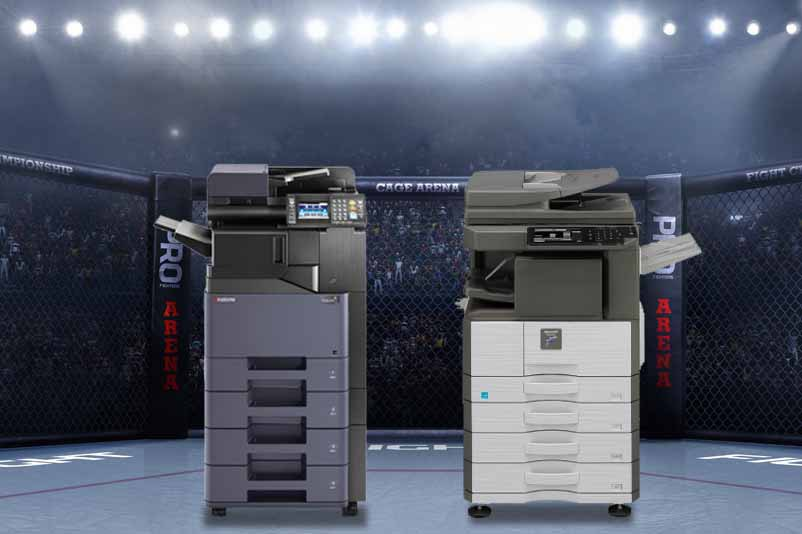 sharp copiers vs kyocera copiers which is better